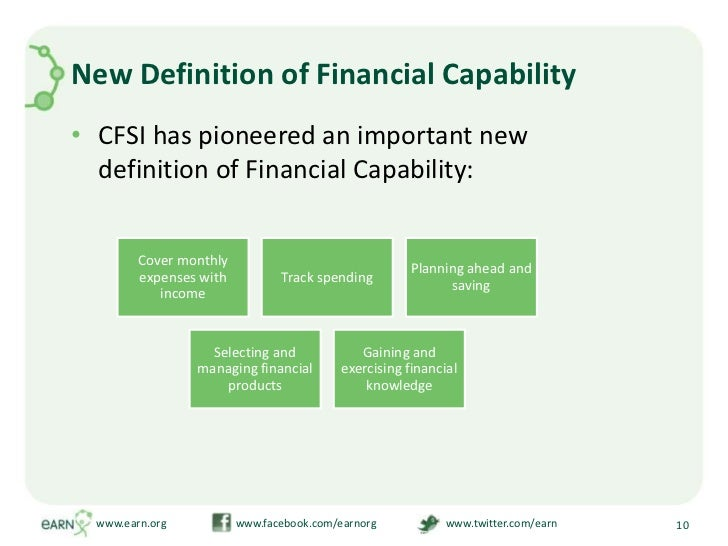 New Definition of Financial Capability<br />CFSI has pioneered an important new definition of Financial Capability:<br />w...