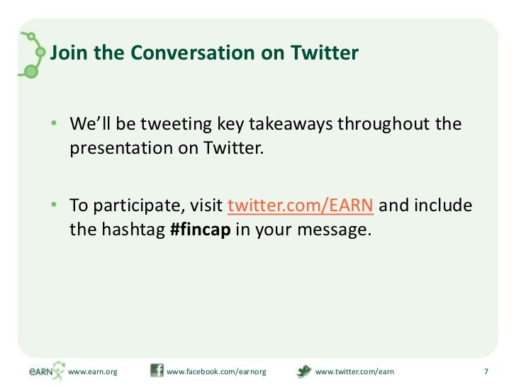 Join the Conversation on Twitter<br />We'll be tweeting key takeaways throughout the presentation on Twitter.<br />To par...