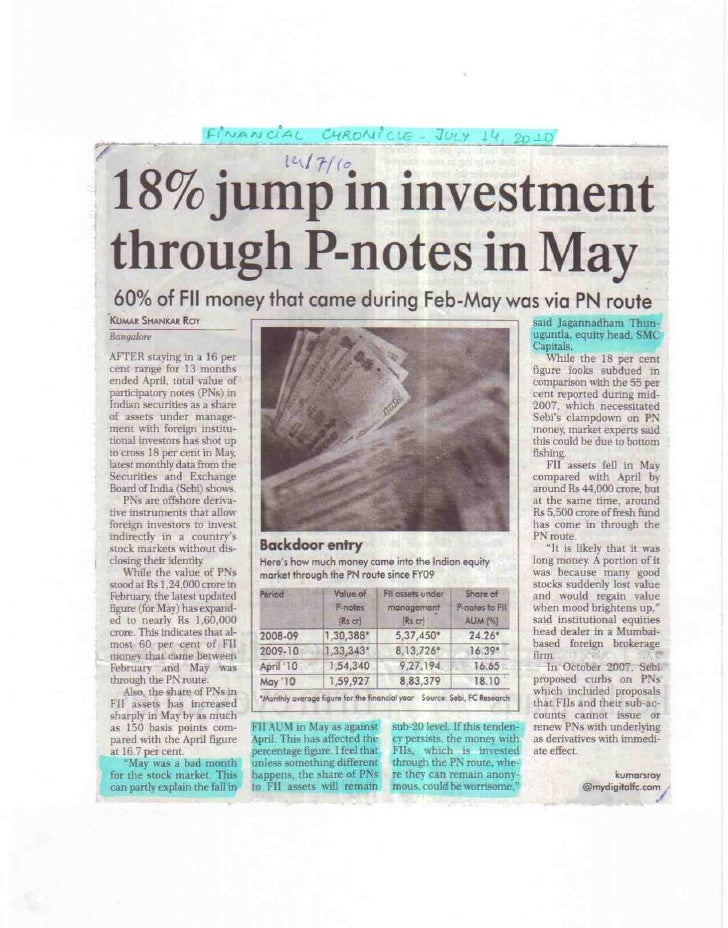 Financial Chronicle 14 July 2010