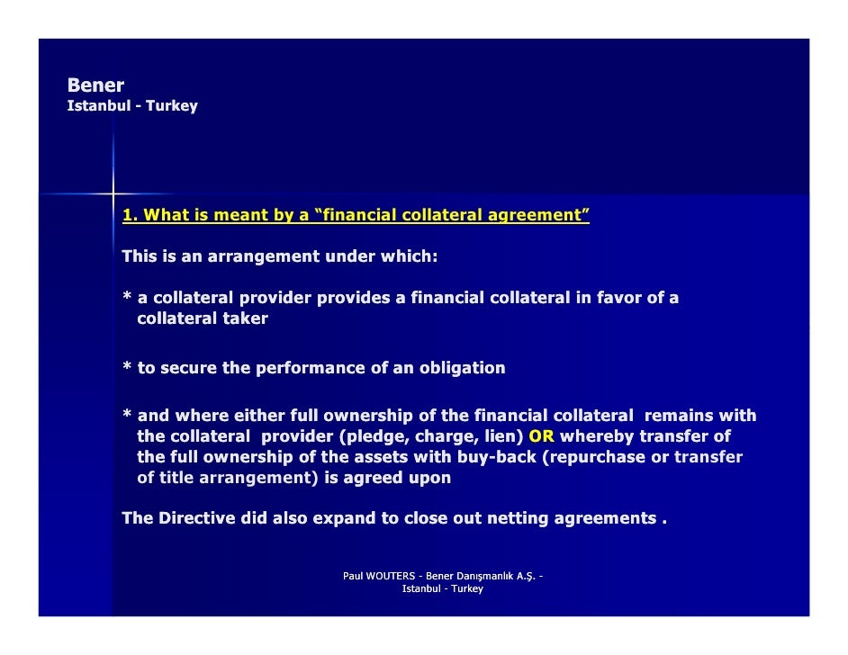 Financial Collateral Directive 2002 Ec 47