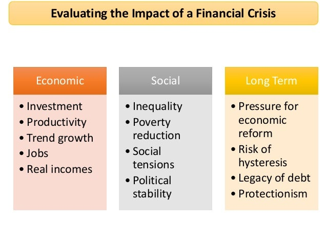 repercussions of the financial crisis essay After the music stopped: the financial crisis, the response, and the work   the most pervasive effects of animal spirits in contemporary economic  in a  concise essay that combines practical insight with philosophical.
