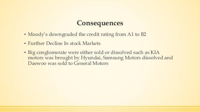 Financial crisis of 1997 south korea for General motors moody s rating