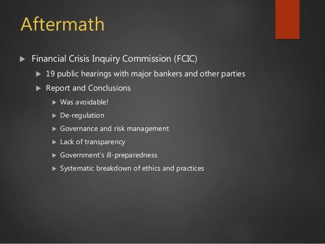 financial crunch inquiry monetary fee a conclusion to help essays