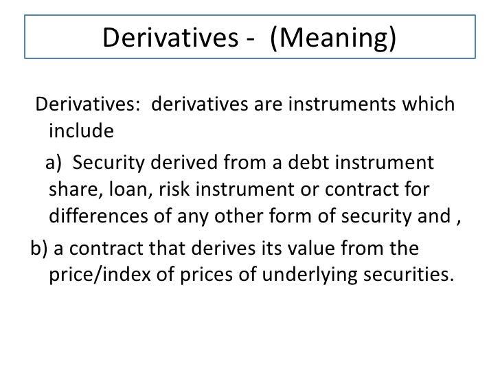 Forex derivatives ppt