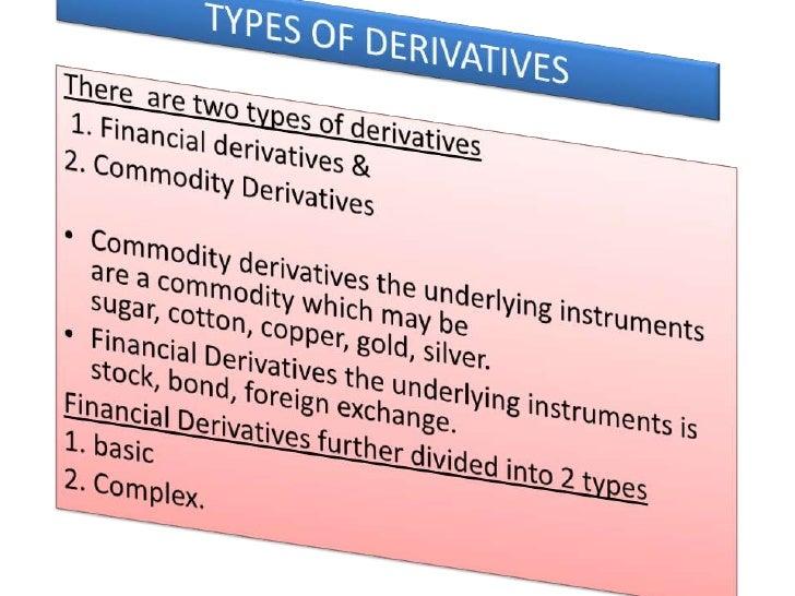 Derivatives pdf financial