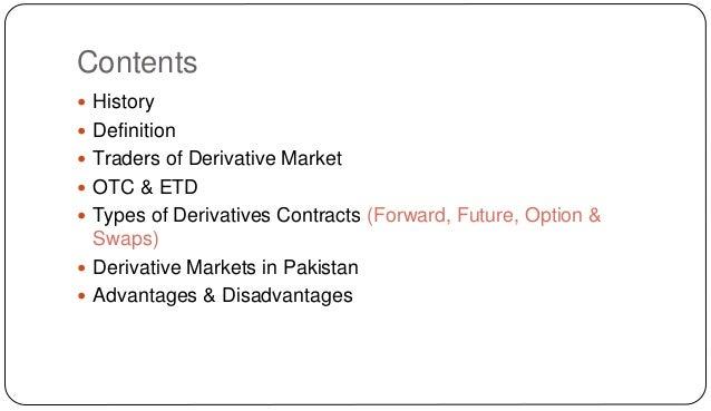 disadvantages of derivatives