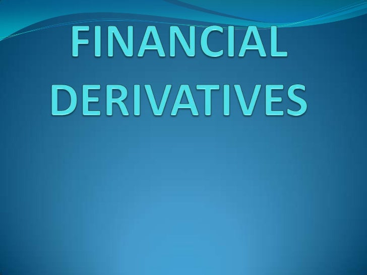 What are Derivatives? A derivative is a financial instrument whose value is derived  from the value of another asset, whi...