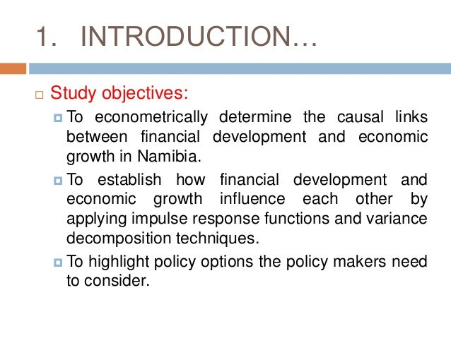 Financial development and economic growth thesis