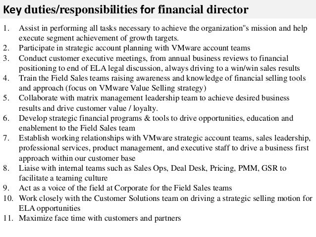 Financial director job description