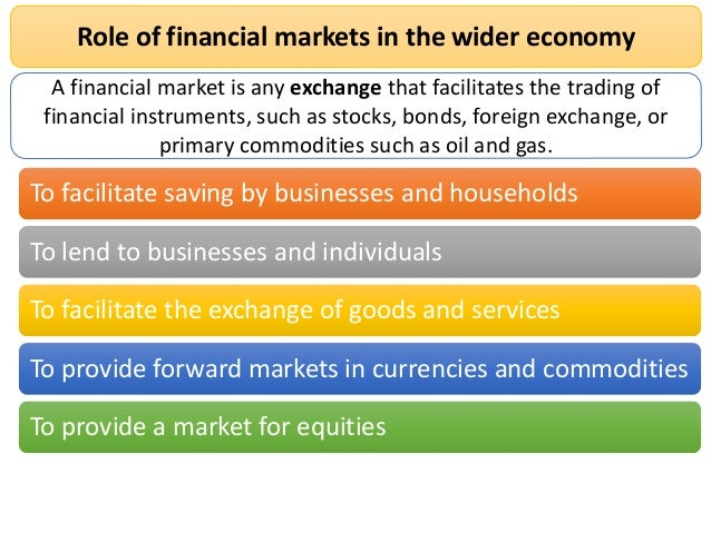 role of the forward market Announced in july 2000 recognised the positive role of forward and futures market in price commodity future market and new initiatives taken the forward.