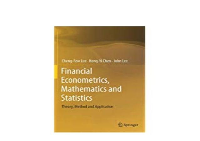 Download Financial Econometrics Mathematics And Statistics Th