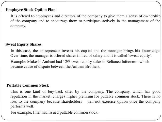 Employee stock options voting rights