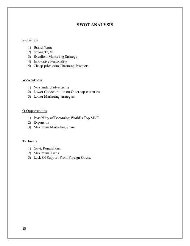Dissertation report on finance