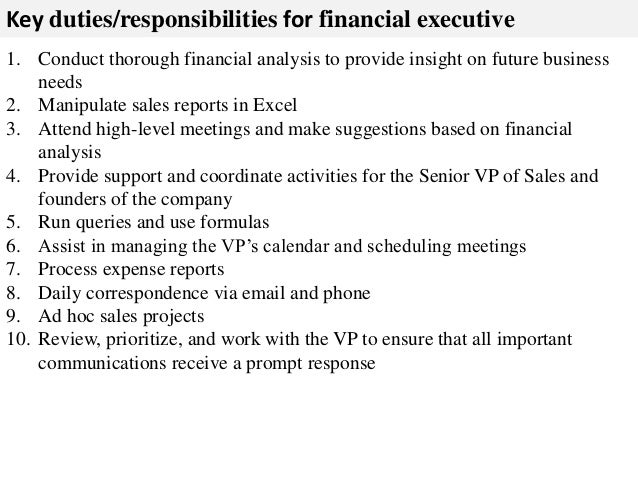 Financial executive job description
