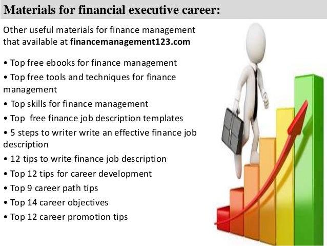 Financial Executive Job Description