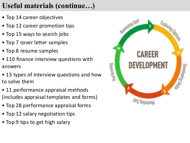 ... Objectives U2022 Top 12 Career Promotion Tips; 7.  Finance Career Objectives