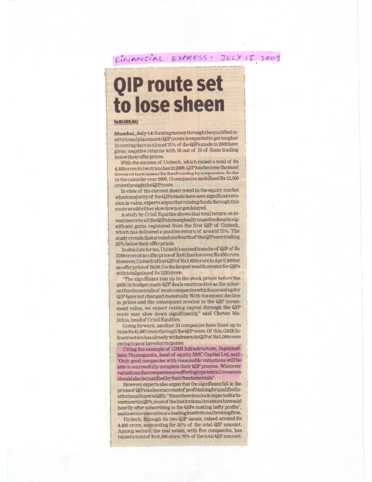 Financial Express  July 15, 2009