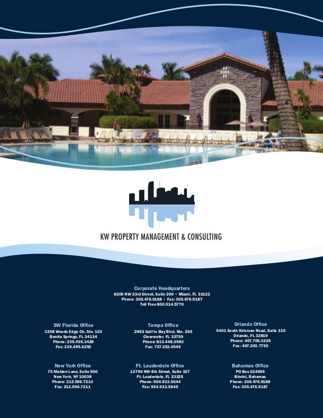1--Corporate Headquarters8200 NW 33rd Street, Suite 300 • Miami, FL 33122Phone: 305.476.9188 • Fax: 305.476.9187Toll Free ...