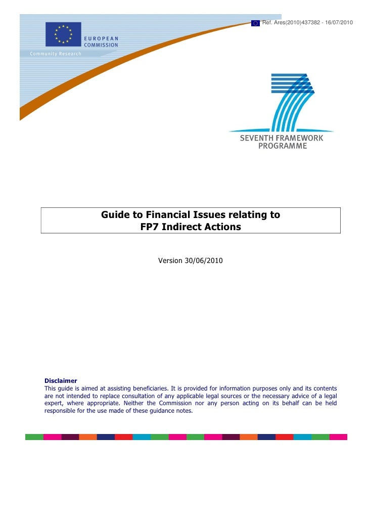 Ref. Ares(2010)437382 - 16/07/2010                     Guide to Financial Issues relating to                             F...