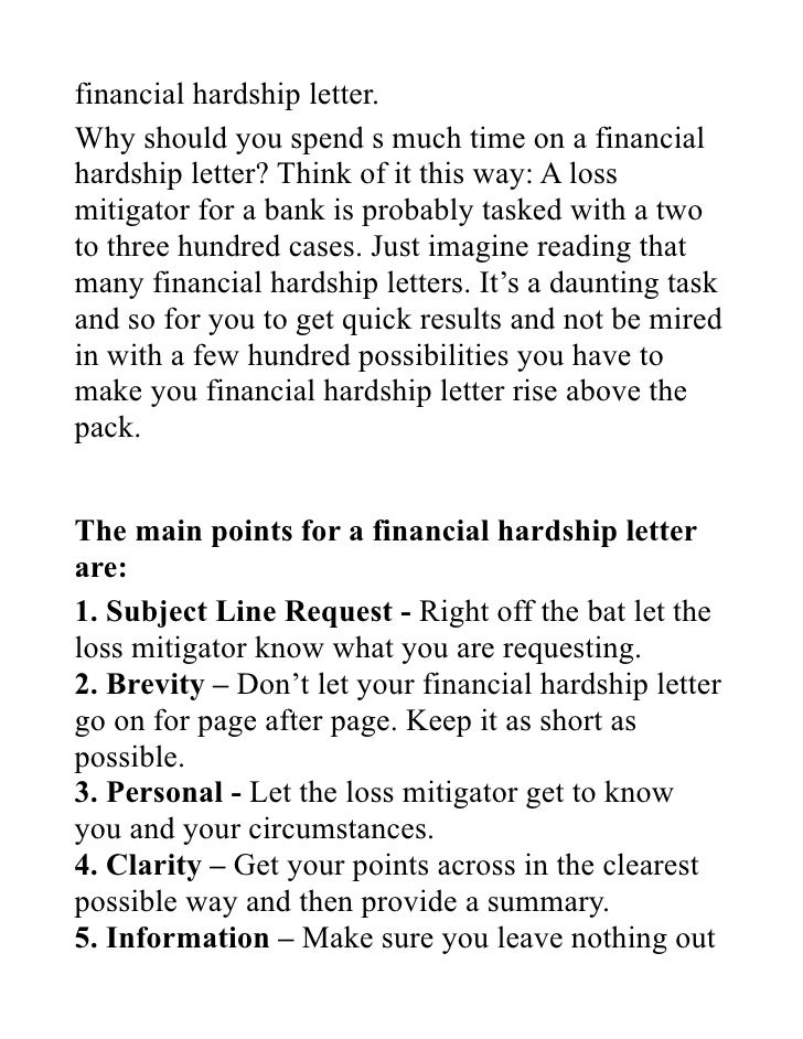 High Quality ... 2. Financial Hardship Letter. Idea