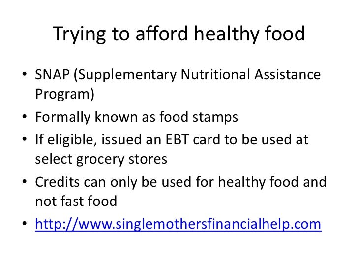 Can Low Income Families Afford Healthy Food