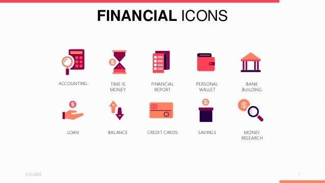 financial icons powerpoint template free download