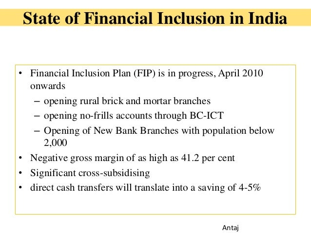 role of bc bf in financial inclusion Financial inclusion is one of the methods through which inclusive growth can be   bc/bf model effective certain measures are required from the current  post  offices in india can play an important role in providing banking.
