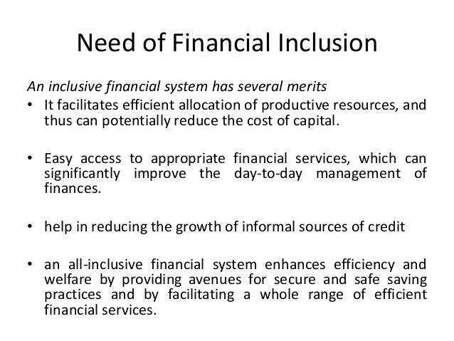 an overview of the financial inclusion in india Role of banking sectors on financial inclusion development in india discuss the overview of financial inclusion in india key words: financial inclusion, reserve bank of india, financial institutions introduction.