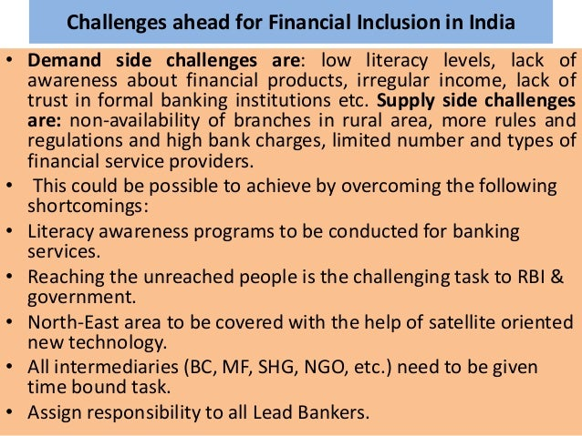 financial inclusion in india Read all news related to prime minister jan dhan yojna to boost financial inclusion in india at economic times.