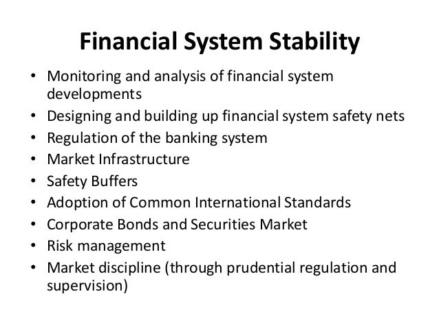 the monitoring of financial institutions through financial regulation The central bank also enhances its regulatory powers by producing  central  bank conducts its routine monitoring of financial institutions' risk.