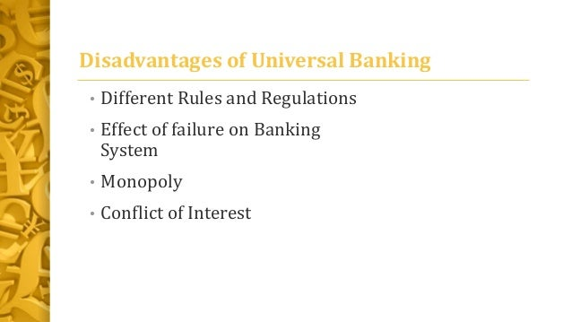 Banking system and their pros and cons