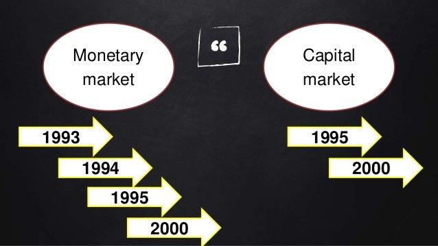 """""""Monetary market Capital market 1993 1994 2000 1995 2000 1995"""
