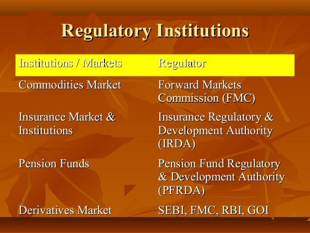 financial institutions markets President's working group on financial markets federal financial institutions examinations council who regulates whom and how.