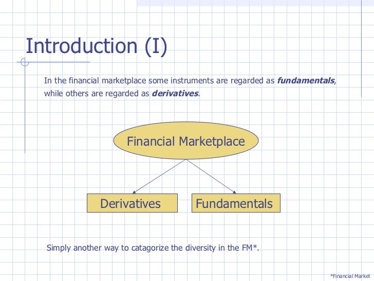 Financial Derivatives Research Paper Starter