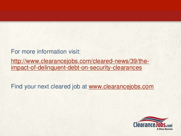Financial Issues And Security Clearances