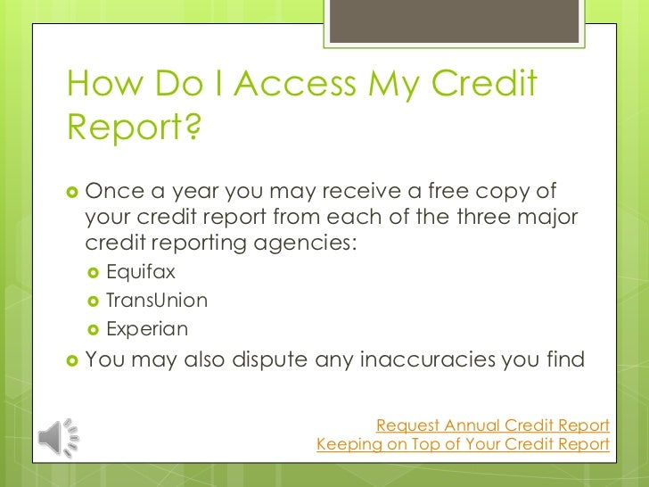how to get a free credit report once a year