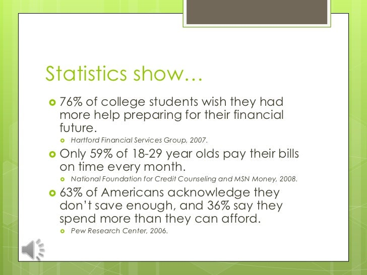 financial literacy for college success statistics show