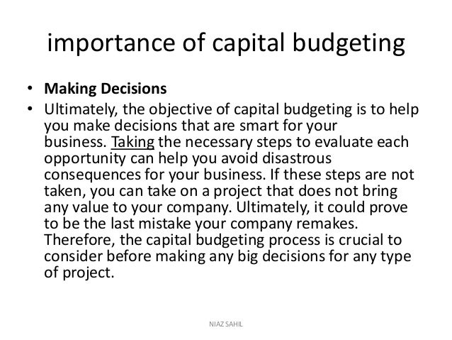 capital budgeting decision process