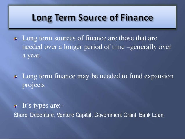 macavoys sources of finance Implications of different source of finance question: identify the sources of finance available to a business answer:  macavoys - sources of finance.
