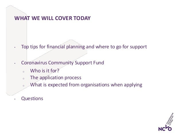 NCVO/CFG Webinar: Financial management and accessing government funding combined  Slide 3