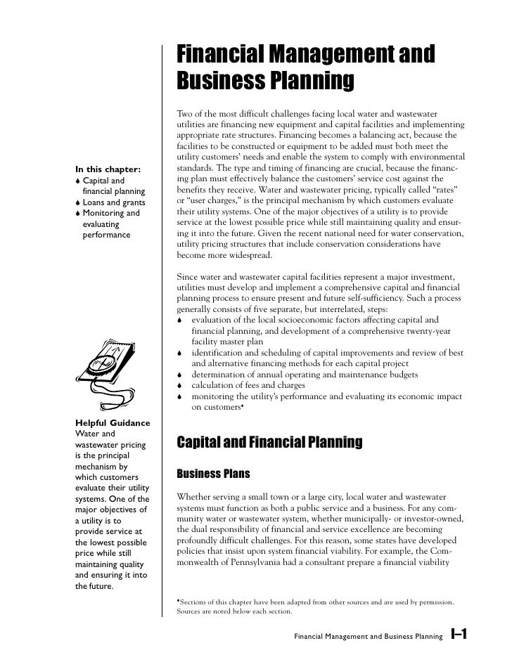 Financial Management and                          Business Planning                          Two of the most difficult cha...