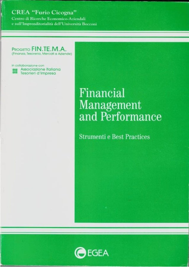Financial management and performance