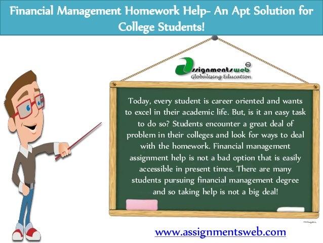 Financial homework services