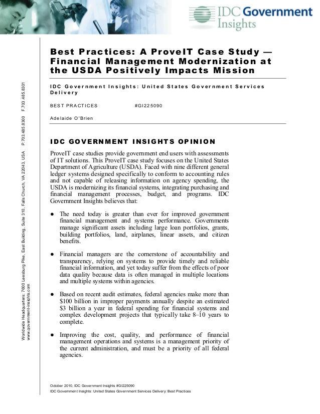 October 2010, IDC Government Insights #GI225090IDC Government Insights: United States Government Services Delivery: Best P...