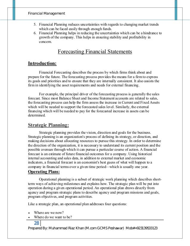 Financial Management Notes By M Riaz Khan 03139533123 1 Professional Bakery  Assistant Templates To Showcase Your Talent My Perfect Resume  Easy Perfect Resume