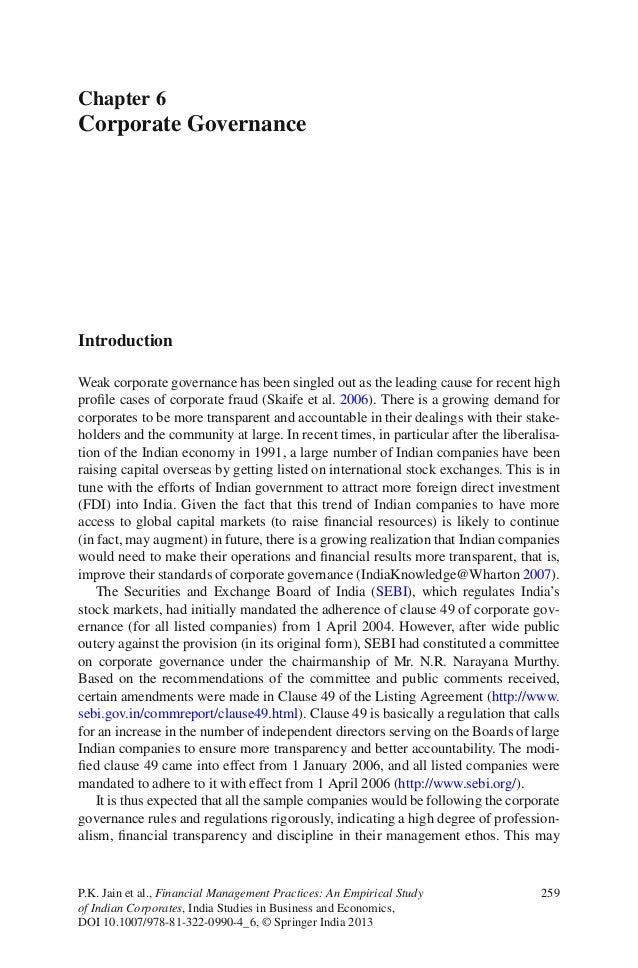 259P.K. Jain et al., Financial Management Practices: An Empirical Studyof Indian Corporates, India Studies in Business and...