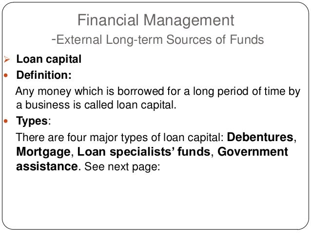 Financial management sources of funds