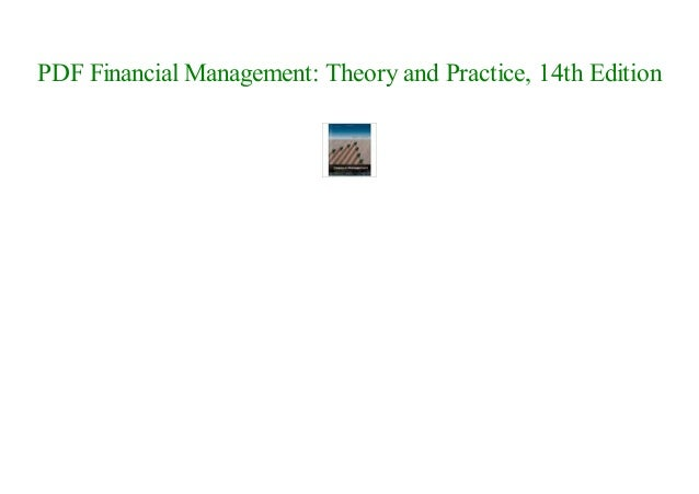 Brigham/ehrhardt's financial management: theory & practice, 14th.