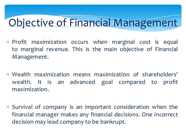 importance of maximising shareholders wealth Value maximisation model of the firm (with limitations and diagram)  value maximisation model of the firm  value of a firm represents shareholders wealth.