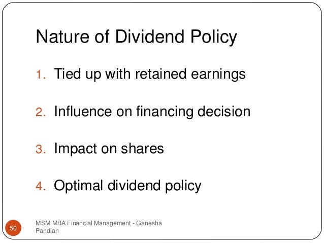 nature of dividend policy